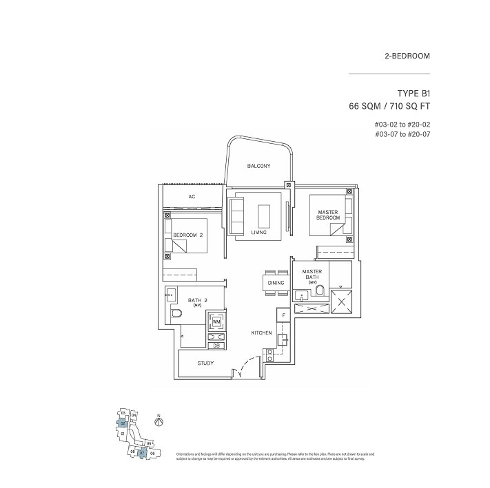 2 Bedroom Type B1