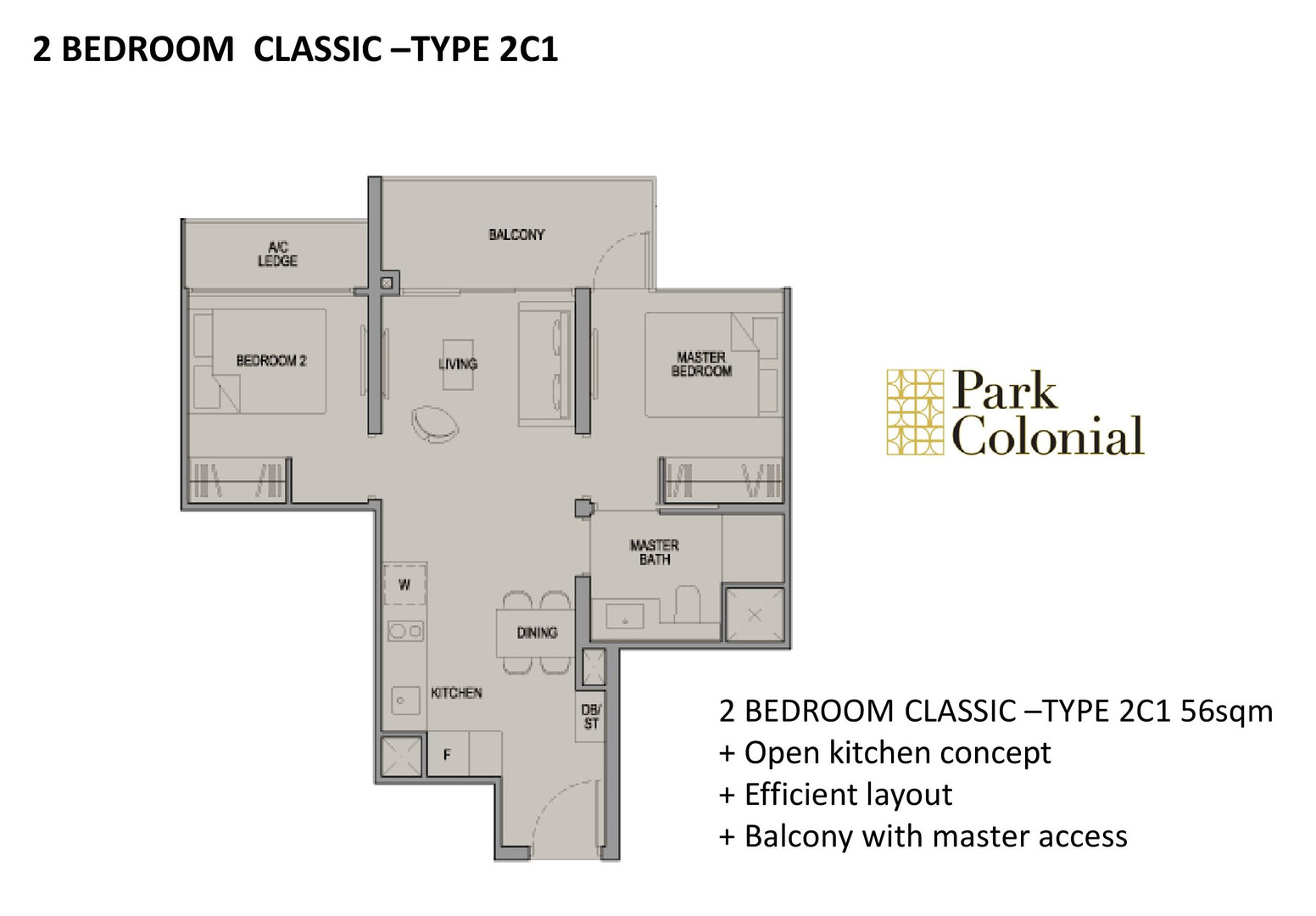 Park Colonial 2 Bedroom Classic - Type 2C1
