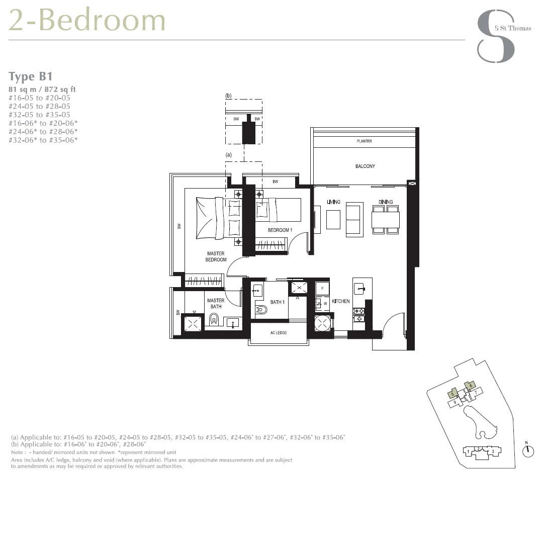 8 St Thomas Brochure 2 Bedroom Type B1