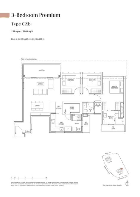 Irwell High Residences 3-Bedroom Premium