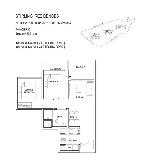 Stirling Residences 2 Bedroom Classic