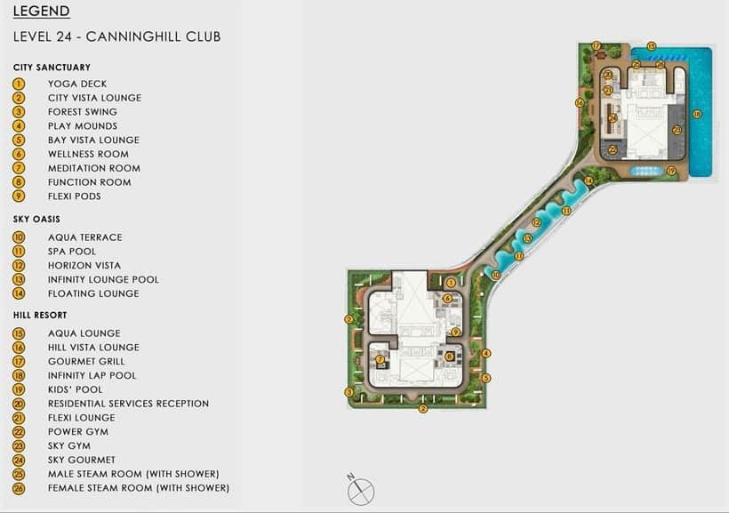 Canninghill Piers Site Plan Level 24