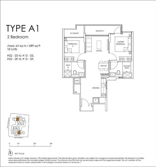 Mont Botanik Residence 2-Bedroom Type A1