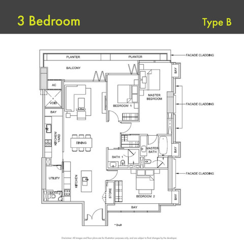 Canninghill Piers - 3-Bedroom Type B