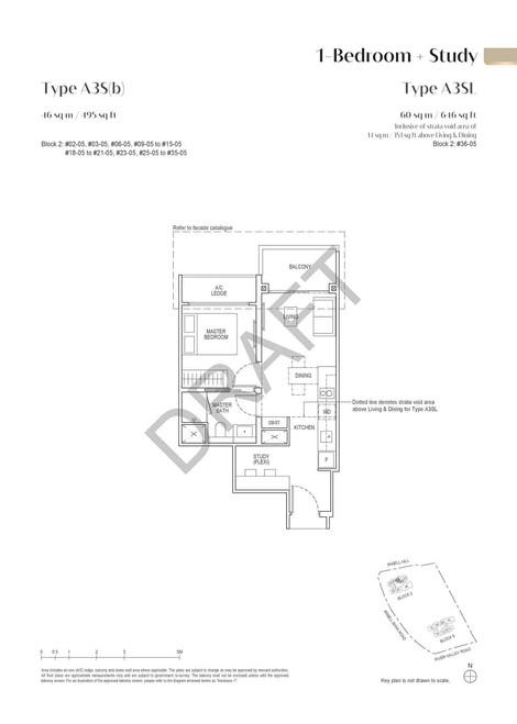 Irwell High Residences 1-Bedroom Study