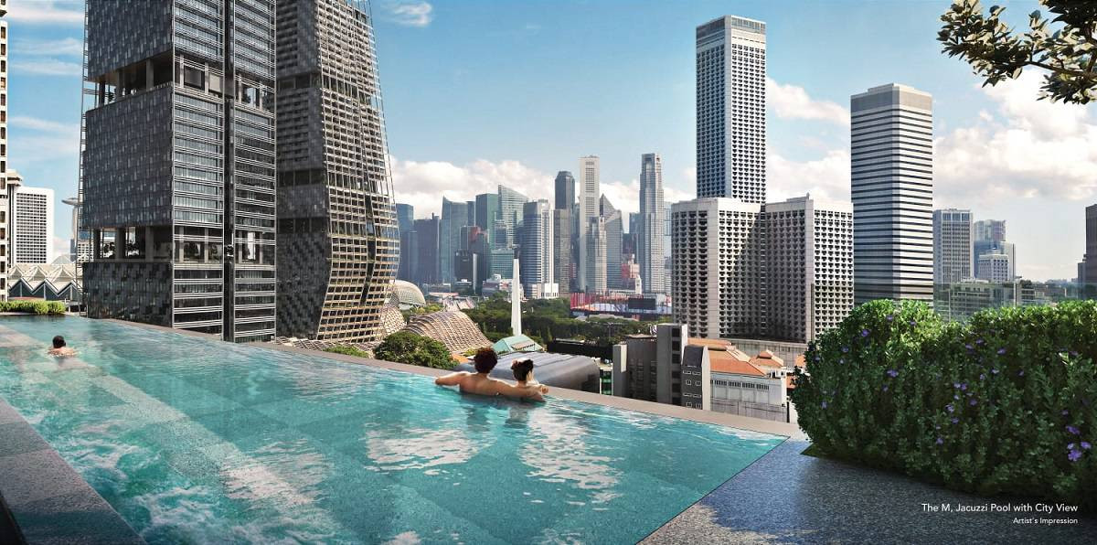 The M city view from Jacuzzi Pool