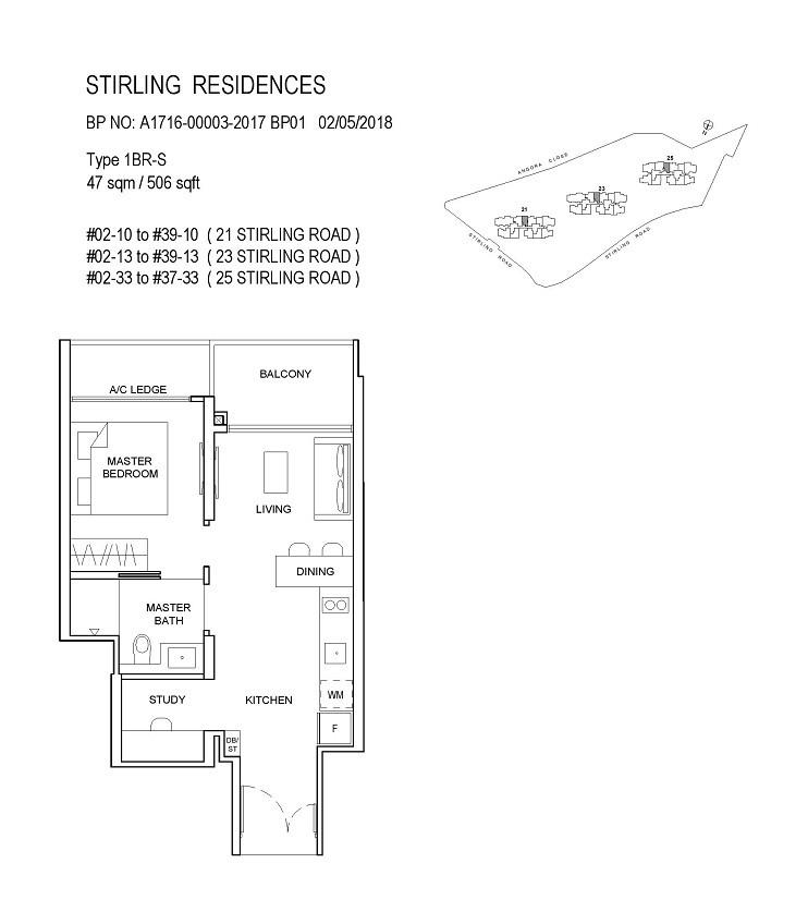 Stirling Residences 1 Bedroom