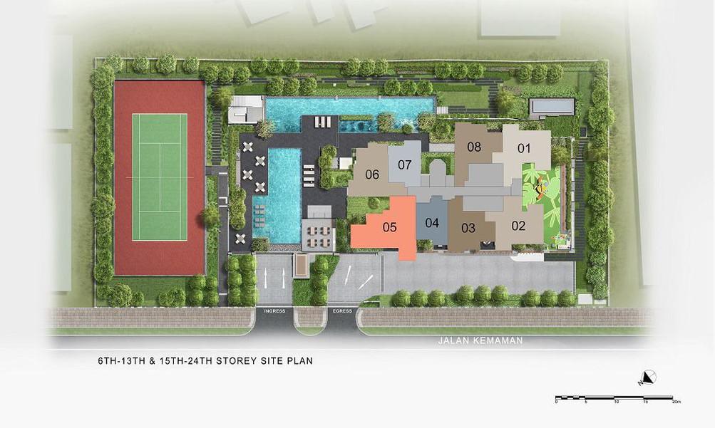 Verticus - Site Plan Level 6-13, 15-24
