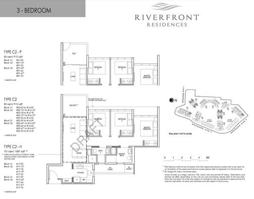 Riverfront Residences 3 Bedroom