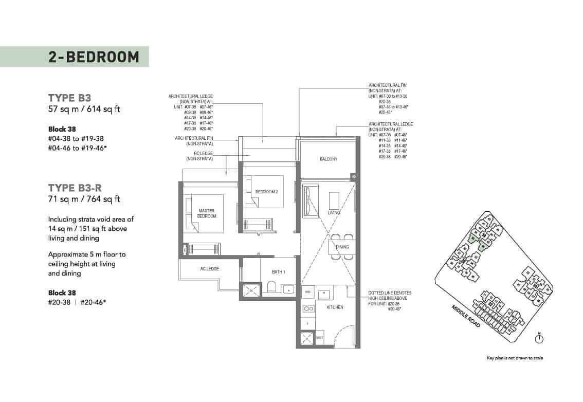 The M condominium 2-Bedroom