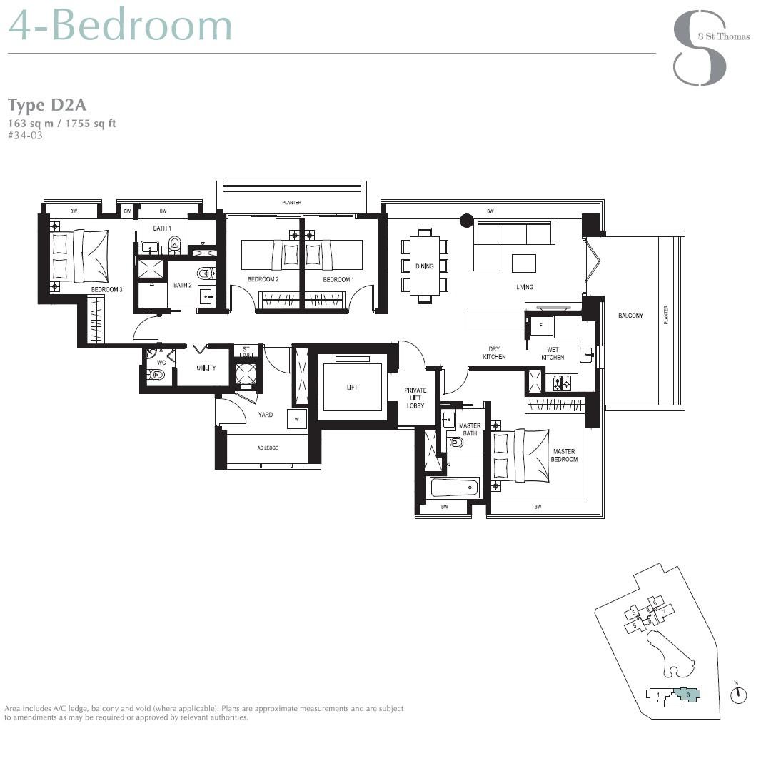 8 St Thomas Brochure 4 Bedroom Type D2A