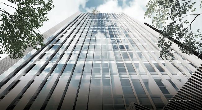 The Iveria glassy facade