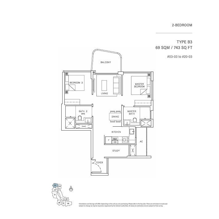 2 Bedroom Type B3