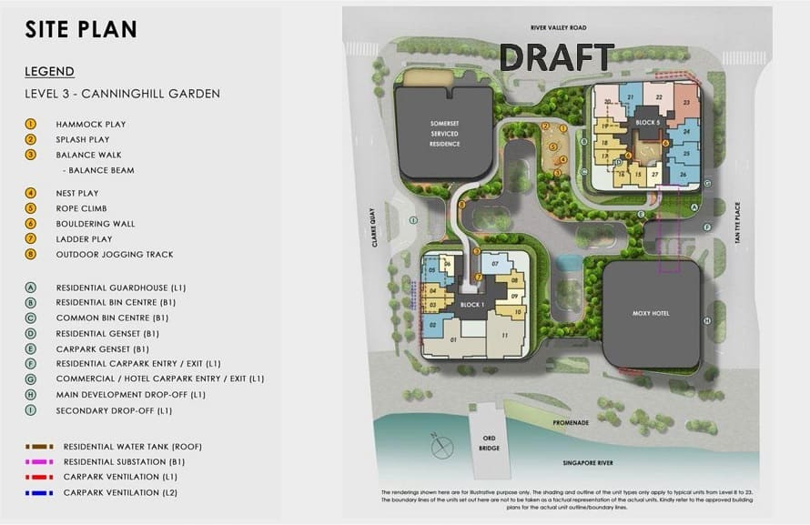 Canninghill Piers Site Plan Level 3