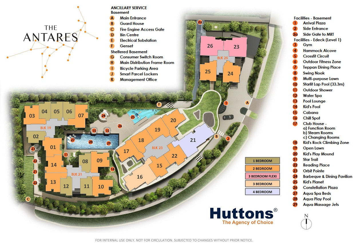 The Antares Site Plan