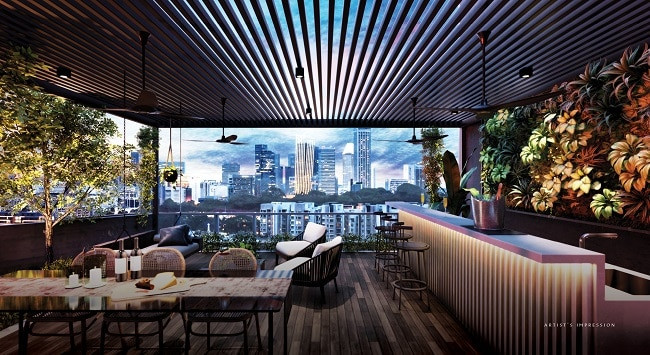 The Iveria roof top lounge