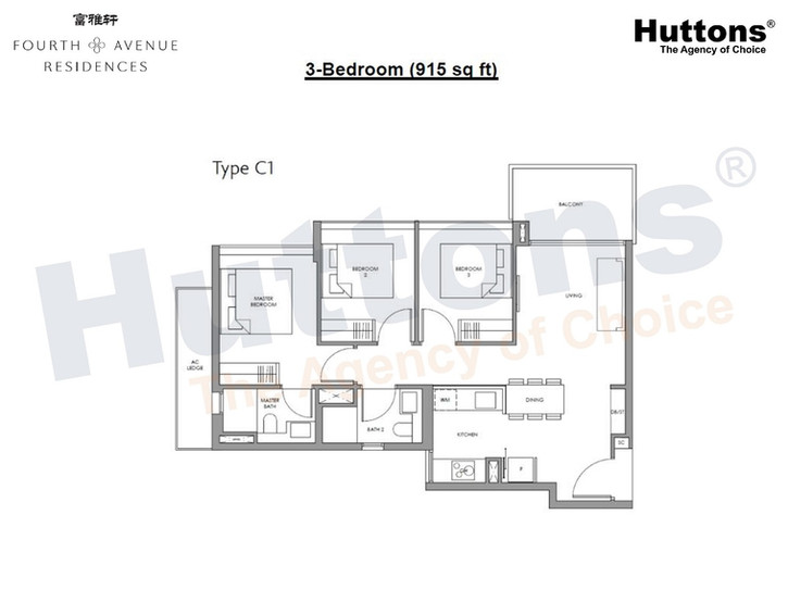 Fourth Avenue Residences - 3 Bedroom