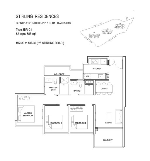Stirling Residences 3 Bedroom Classic