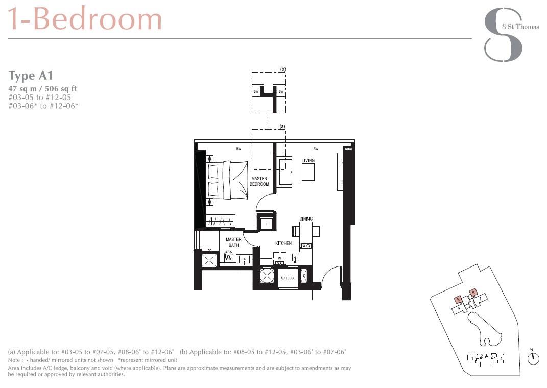 8 St Thomas Brochure 1 Bedroom Type A1