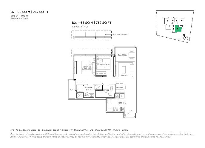 3 Cuscaden 2 Bedroom Type B2