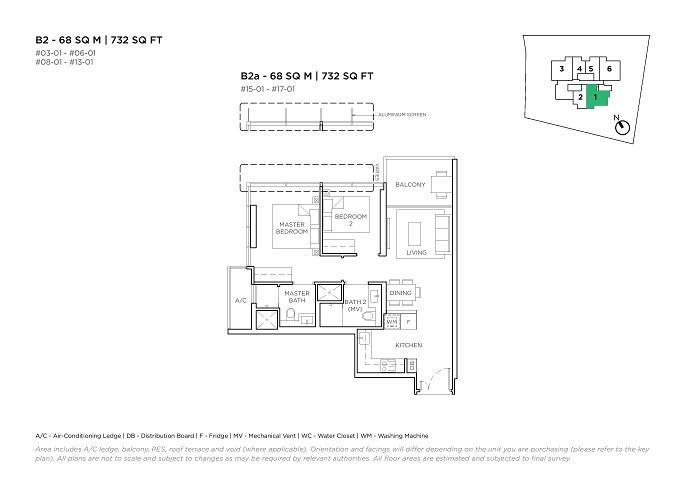 3 Cuscaden 2 Bedroom Type B2
