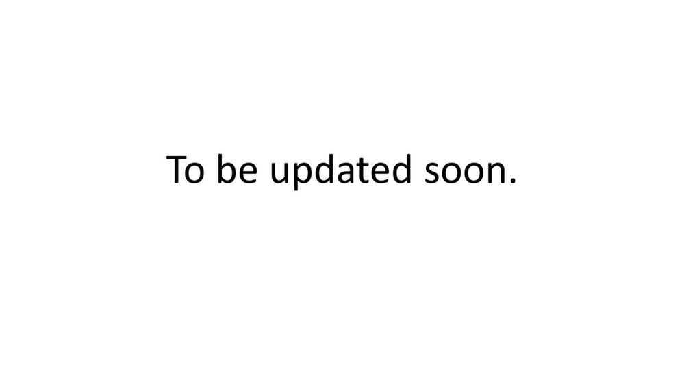 To be updated soon