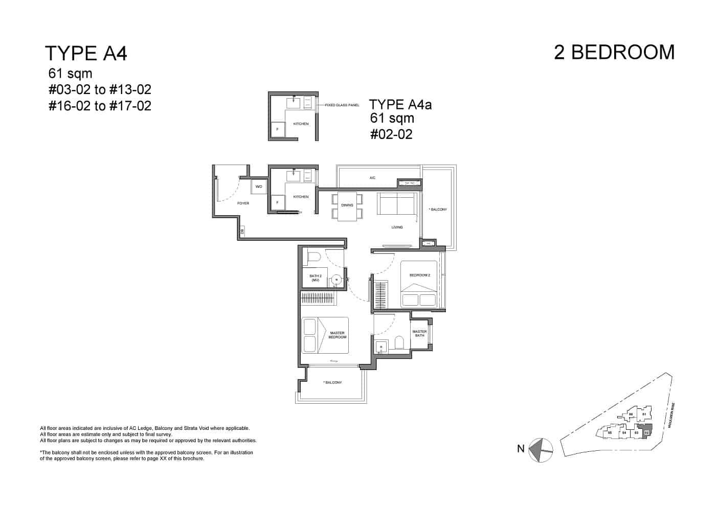 Neu at Novena 2-bedroom Type A4