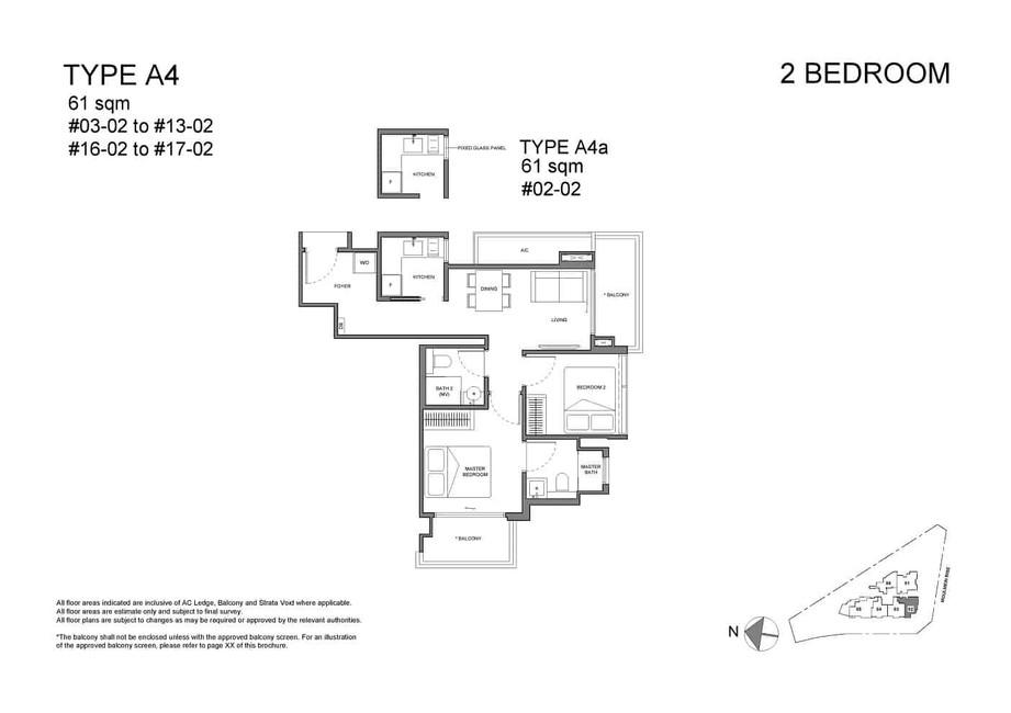 Neu at Novena 2-bedroom Type A4