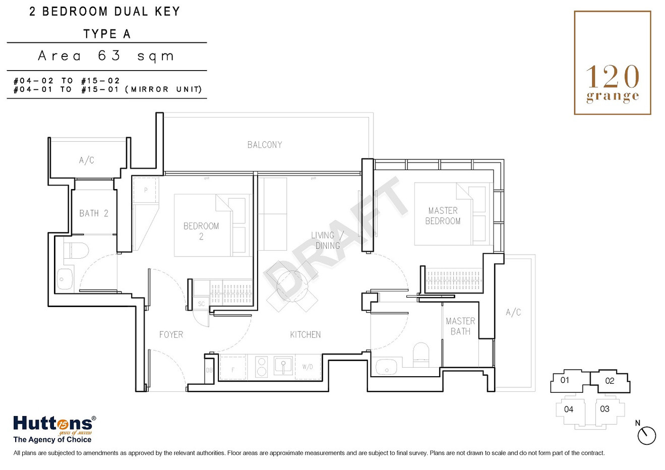 2 Bedrooms Dual-key Type A