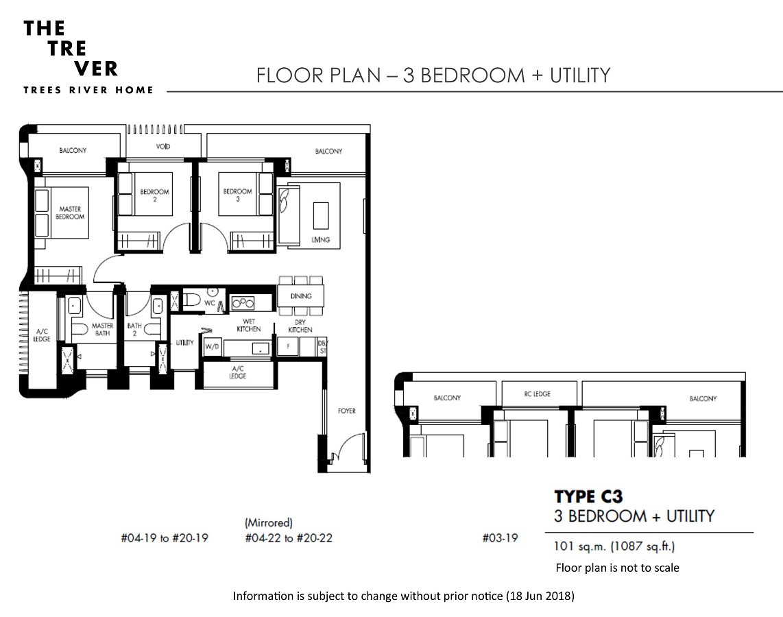 The Tre Ver - 3 Bedroom