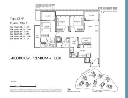 Sengkang Grand 3-Bedroom Premium + Flexi