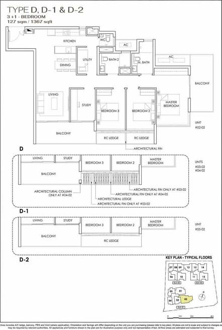 Phoenix Residences 3-Bedroom with Study.