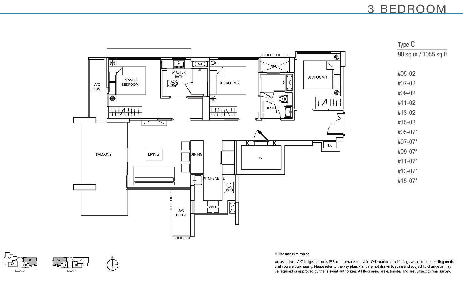 The Line _ Tanjong Rhu 3 Bedroom Type C