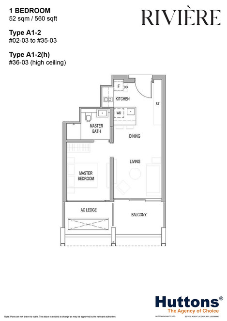 Riviere 1 Bed Type  A1-2