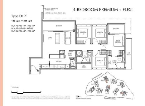 Sengkang Grand 4-Bedroom Premium + Flexi