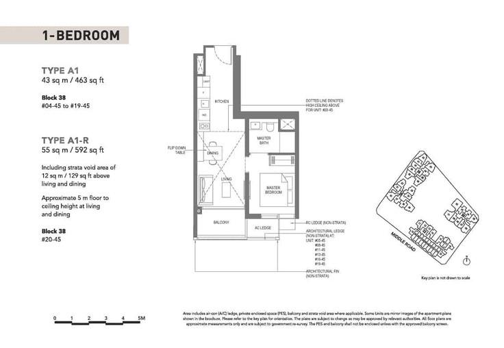 The M condominium 1-Bedroom