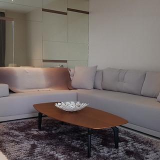 Living room of 3-bed dual key unit
