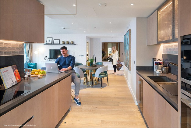 Prince of Wales Drive - Living & Kitchen