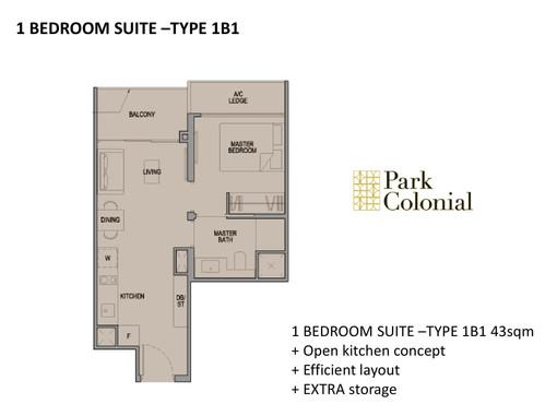 Park Colonial 1 Bedroom Suite - Type 1B1