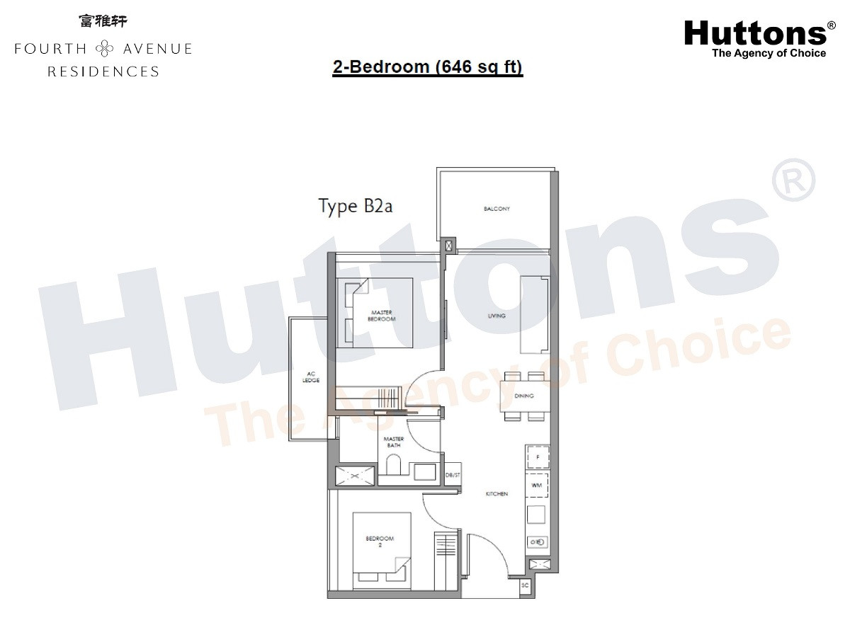 Fourth Avenue Residences - 2 Bedroom