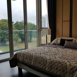 View outside master bedroom of 3-bed dual key unit