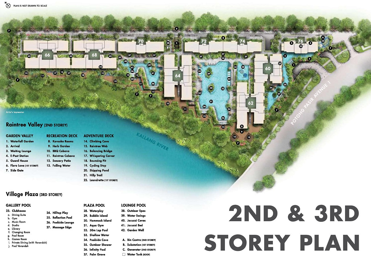 The Tre Ver - 2nd & 3rd Storey Site Plan