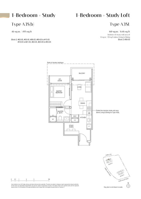 Irwell High Residences 1-Bedroom Study -