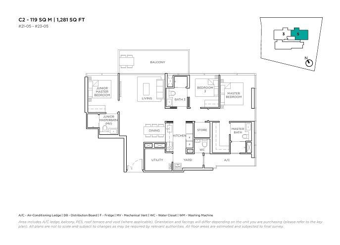 3 Cuscaden 3 Bedroom Type C2