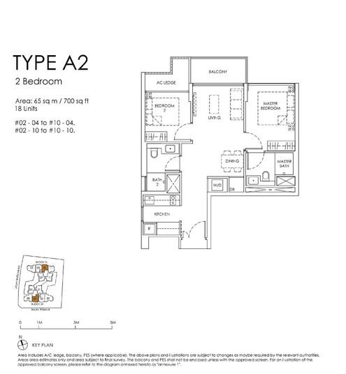 Mont Botanik Residence 2 Bedroom Type A2