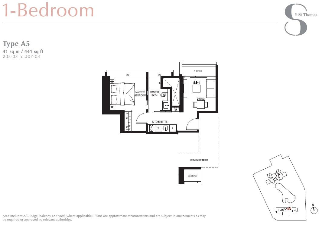 8 St Thomas Brochure 1 Bedroom Type A5