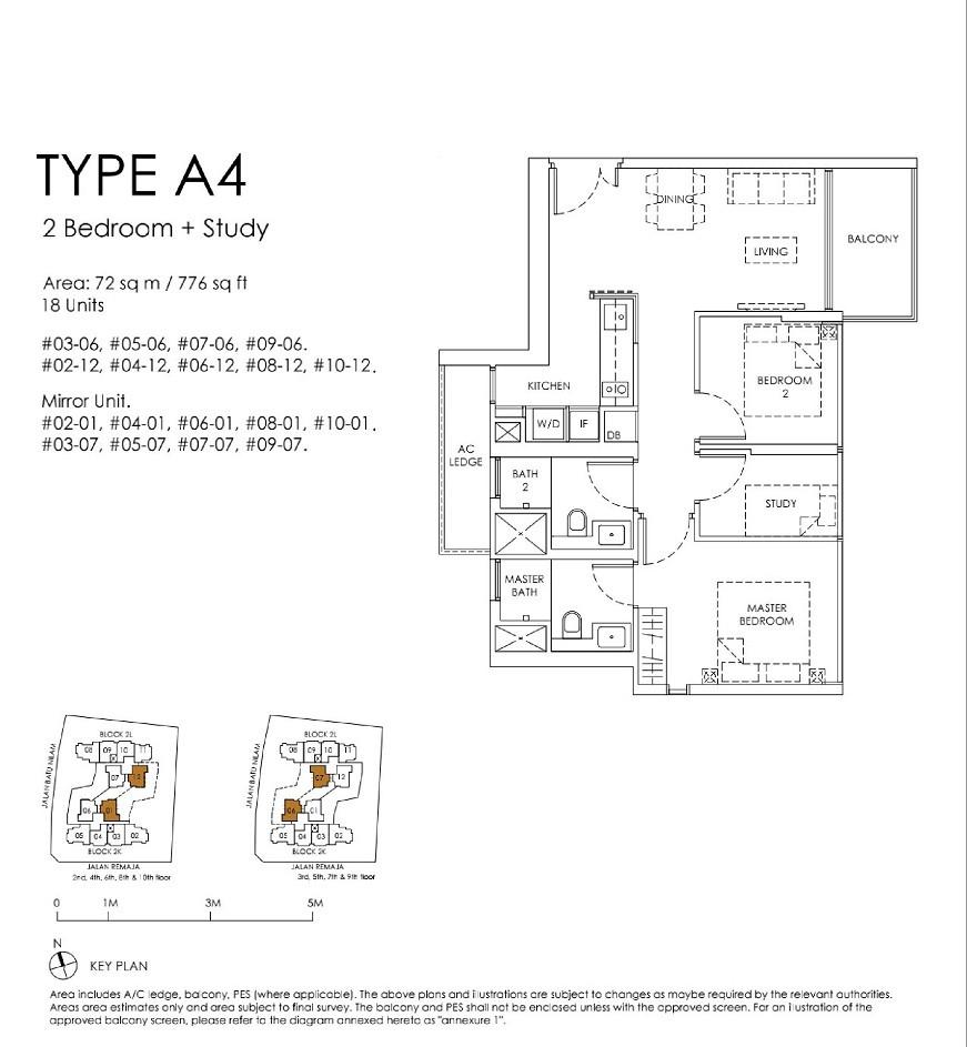 Mont Botanik Residence 2-Bed Study Type A4
