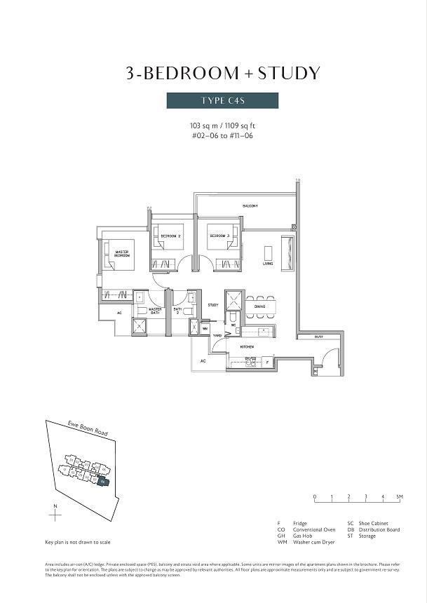 Juniper Hill 3 Bedroom Study Type C4S