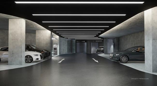 The Iveria carpark