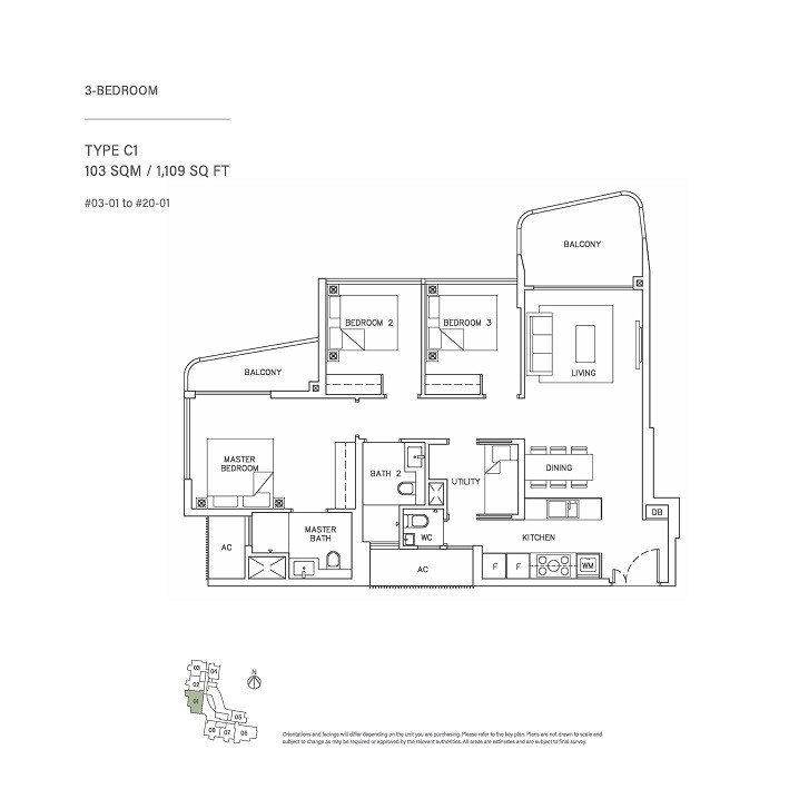 3 Bedroom Type C1